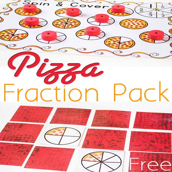 photograph regarding Pizza Printable identified as No cost Pizza Portion Printable Pursuits: Similar Fractions