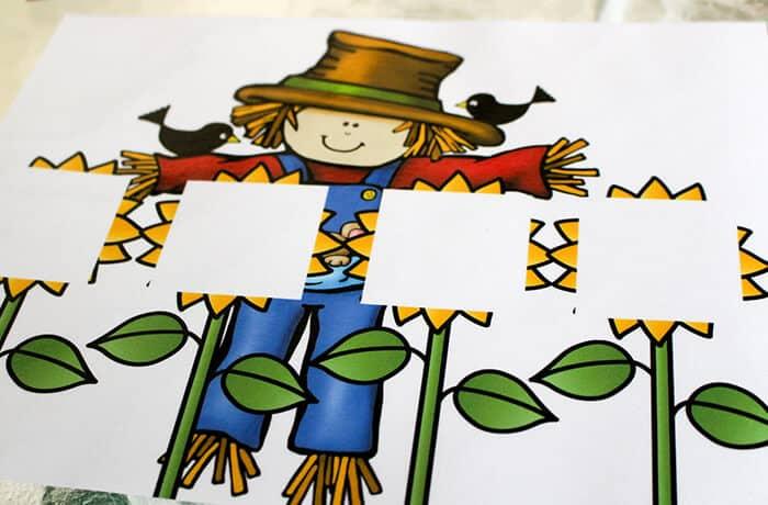 CVCE Words Building Scarecrow Mat
