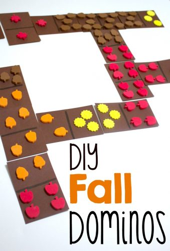 These fun fall themed dominos are great for a variety of fun math games!