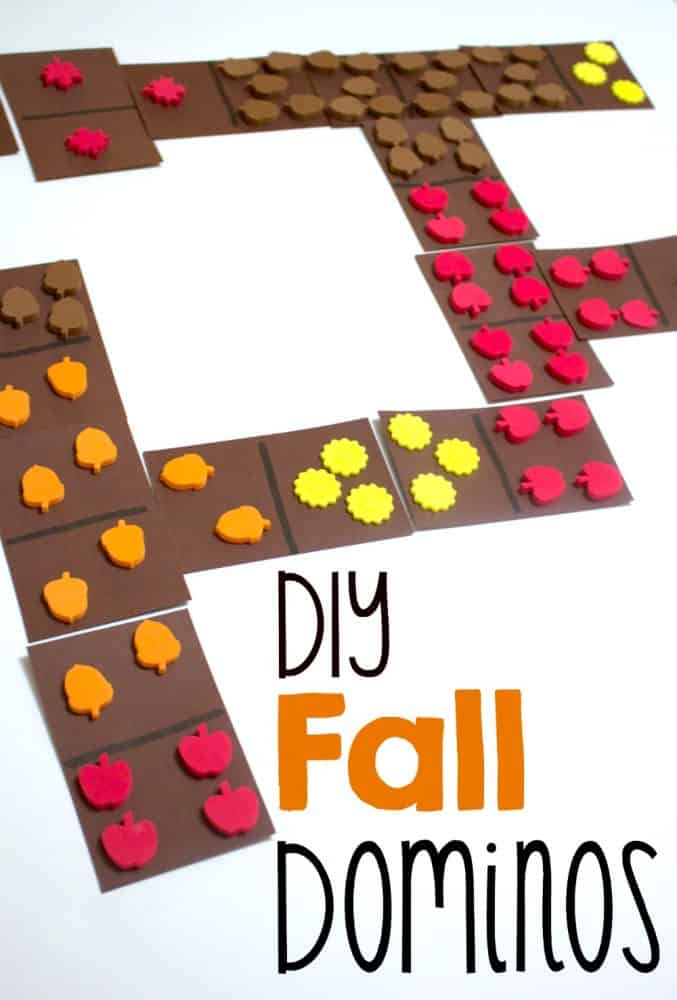 fall themed dominos