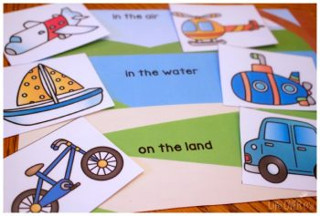Work on classification skills with this fun, free transportation themed printable set for preschoolers.