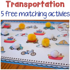 Gross motor transportation game for preschoolers for Transportation crafts for preschoolers