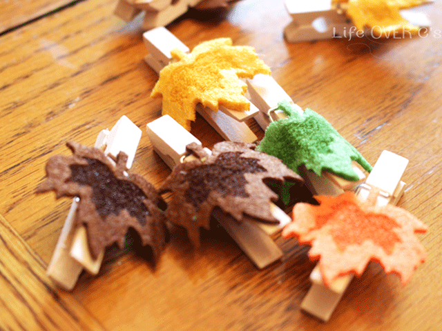 leaf clothespins