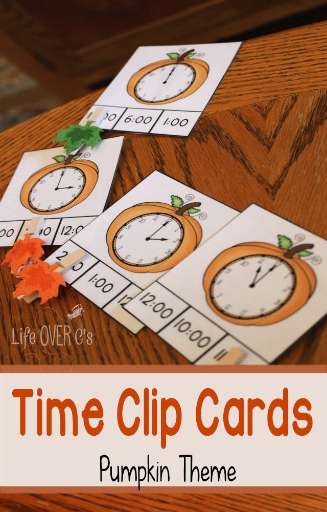 Pumpkin Time Clip Cards