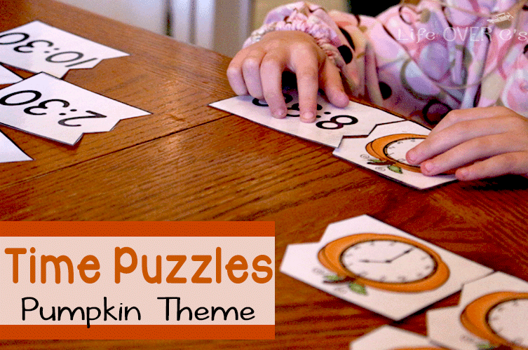 matching pumpkin time puzzles