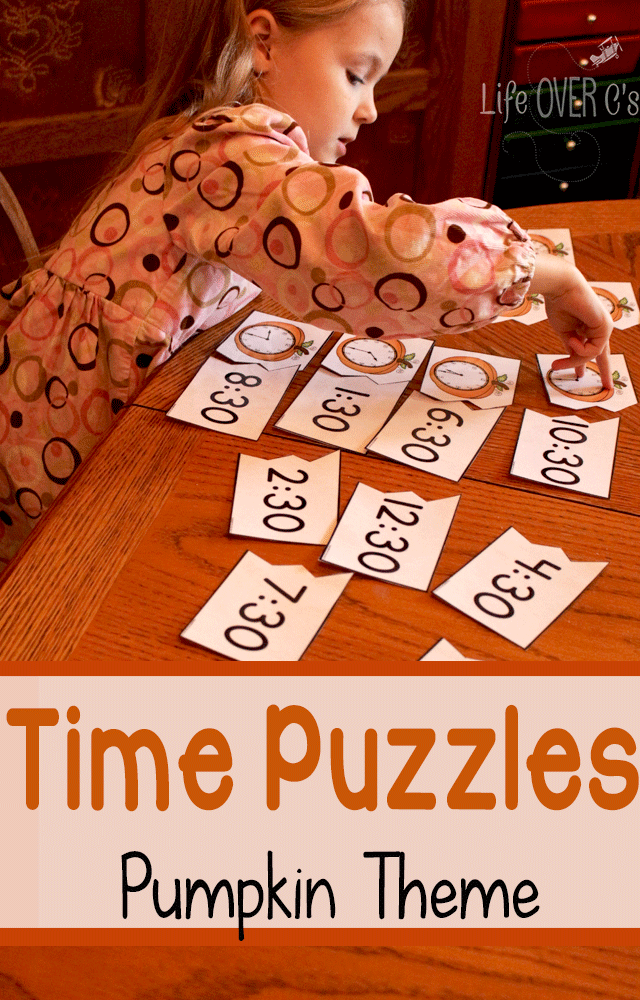 Time Puzzles Pumpkin theme