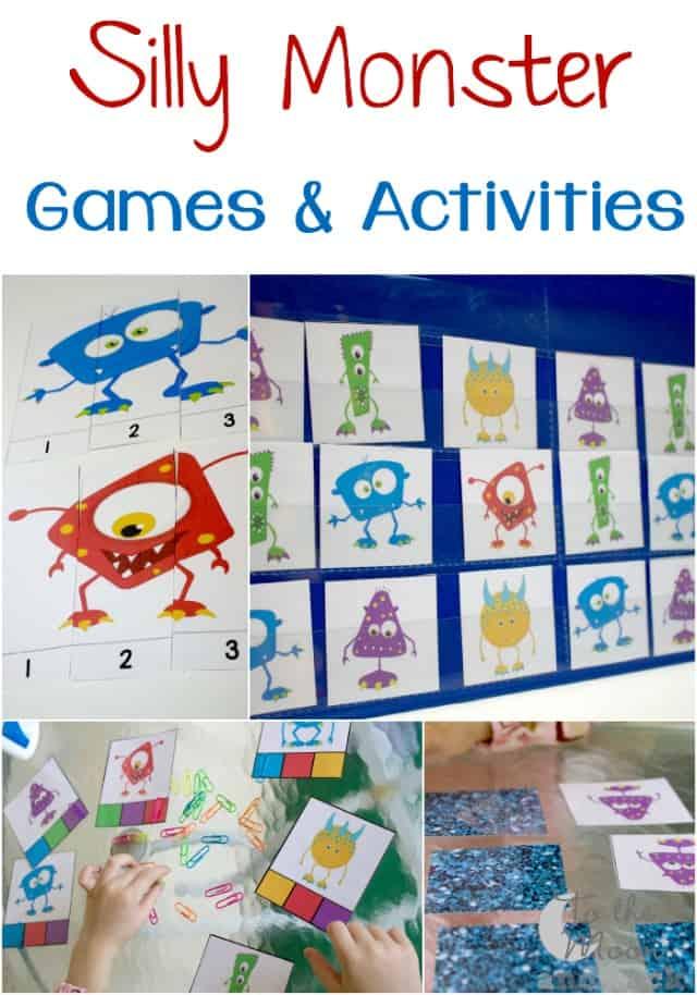 FREE Monster Pack for Preschoolers