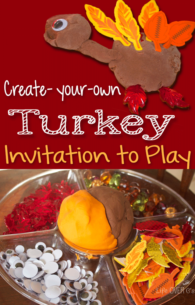 Turkey Play Dough Invitation to play