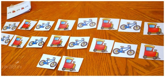 use these transportation themed patterns with your little kids or big kids!