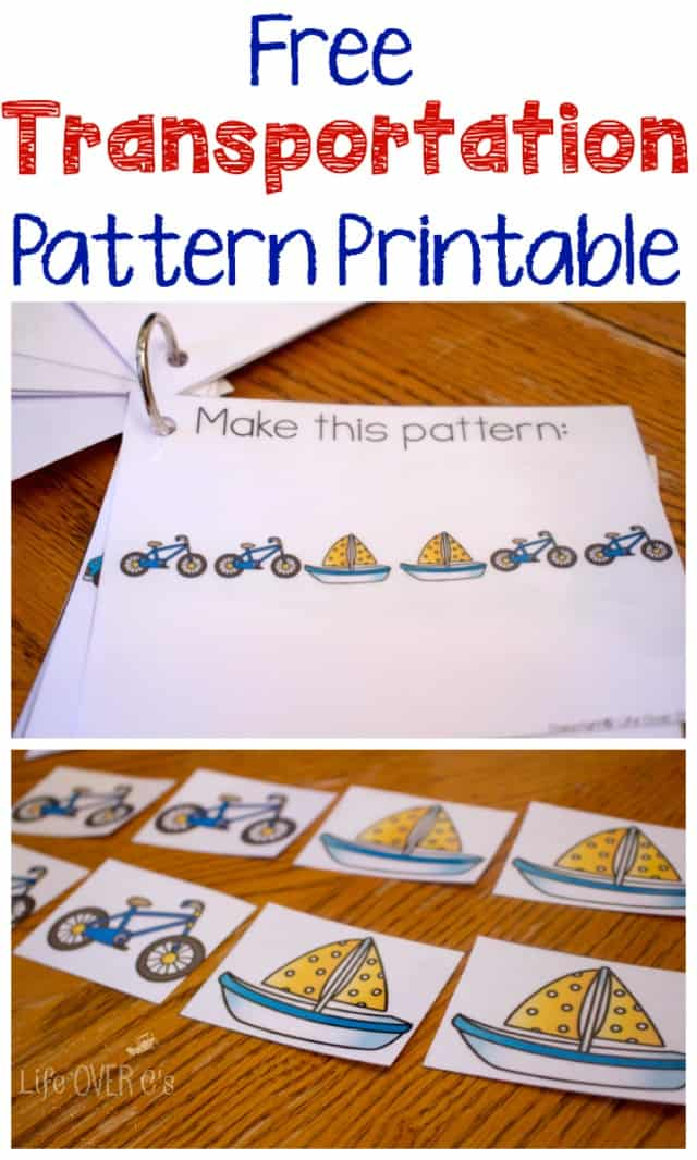 Free Transportation Pattern Printable