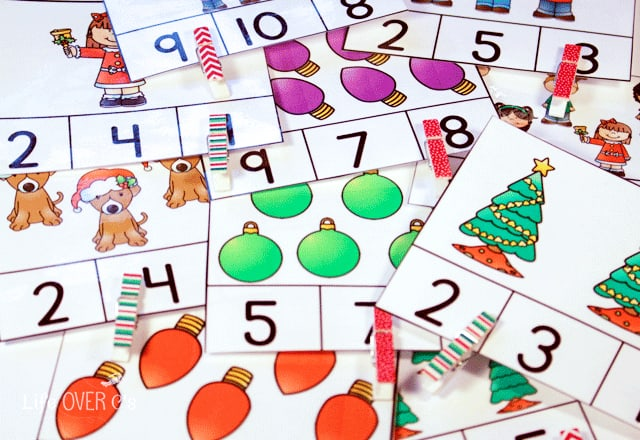 Practice counting to 10 with your preschoolers this winter with the Christmas preschool pack!