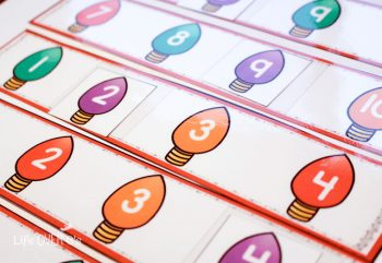 These lights will brighten up any dreary day this winter along with the 15+ activities in the Christmas preschool pack!