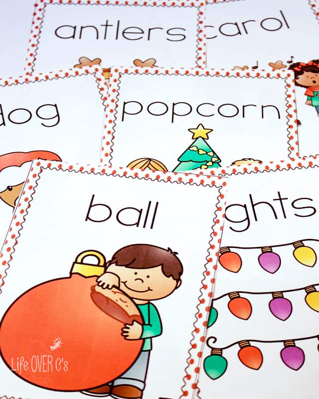 Write the room is a great way to get preschoolers up and moving while learning new Christmas words! Use the three differentiated options to meet the needs of your preschoolers!