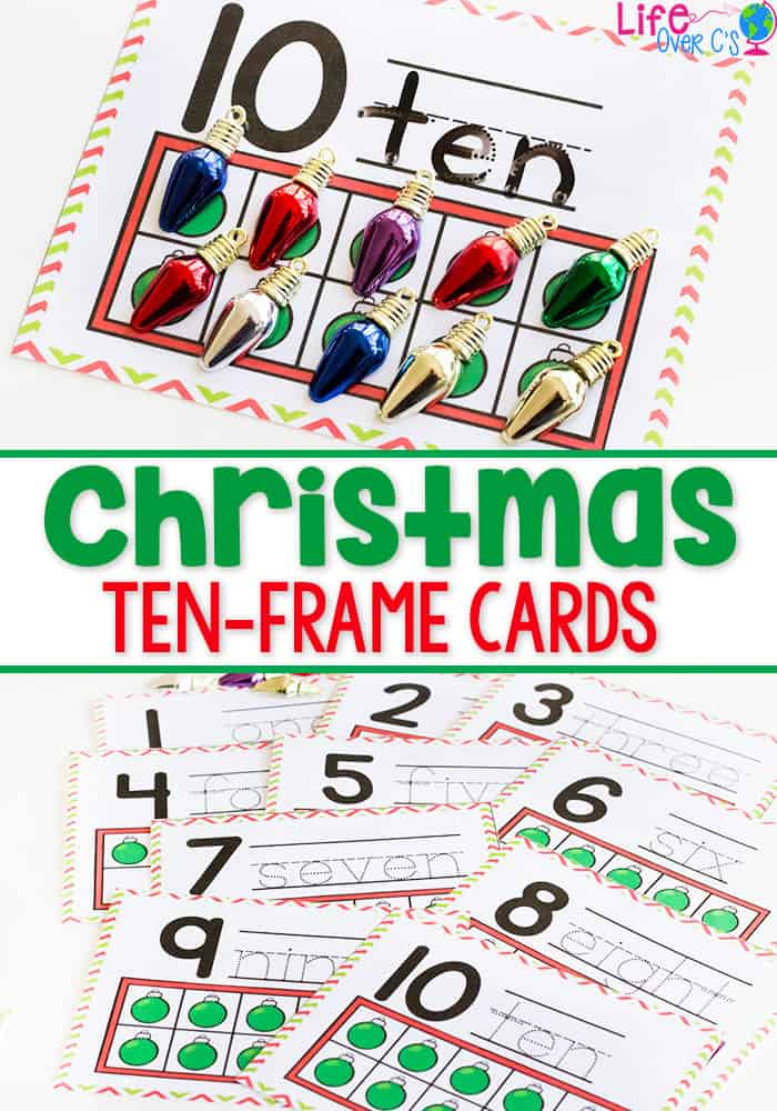 christmas ten-frame cards