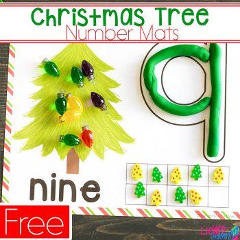 Christmas number mats printable.