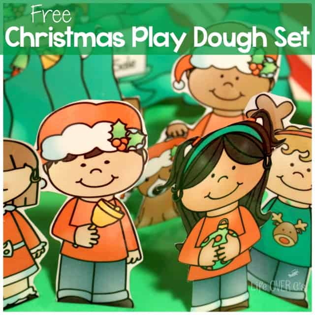 Christmas play dough set square