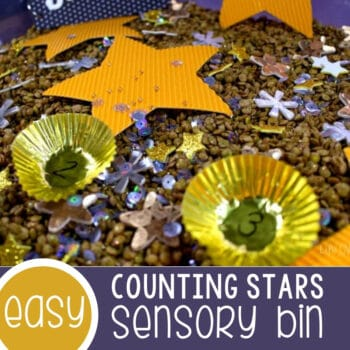 Counting Stars Sensory Bin Featured Square Image