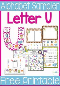 Download this free alphabet sample pack for the letter 'u' to add some hands-on learning to your preschool or kindergarten.