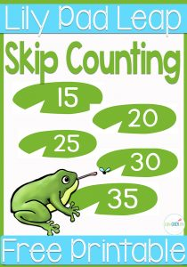 Your learners will have a blast working on their gross motor skills while skip counting by 5s through a frog pond of lily pads! They will have so much fun skip counting that they won't want to stop!