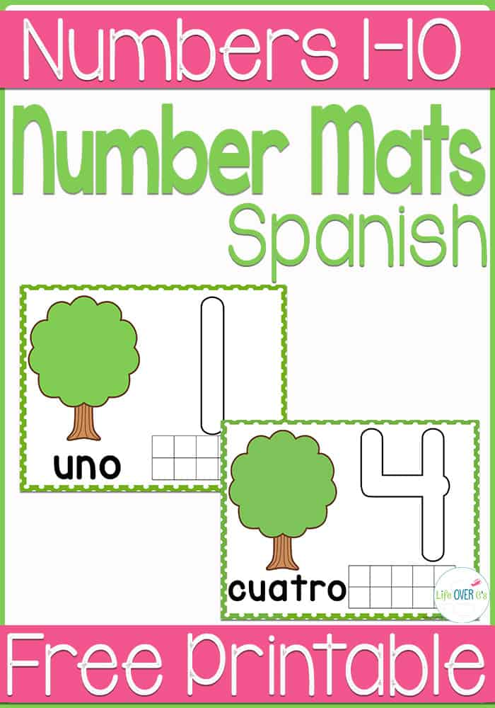 number mats in Spanish