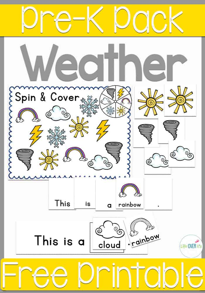 Free Printable Weather Pre-K Pack - Life Over C's
