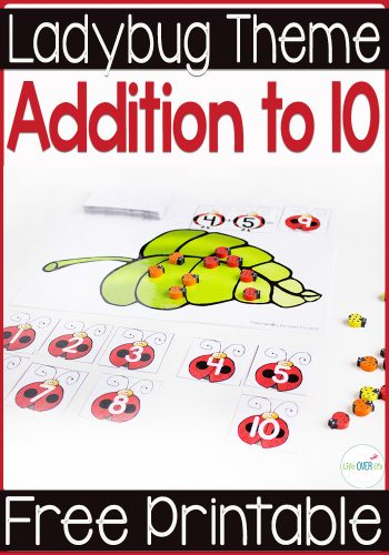Practice addition facts this spring with these adorable ladybug addition mats & fact cards!