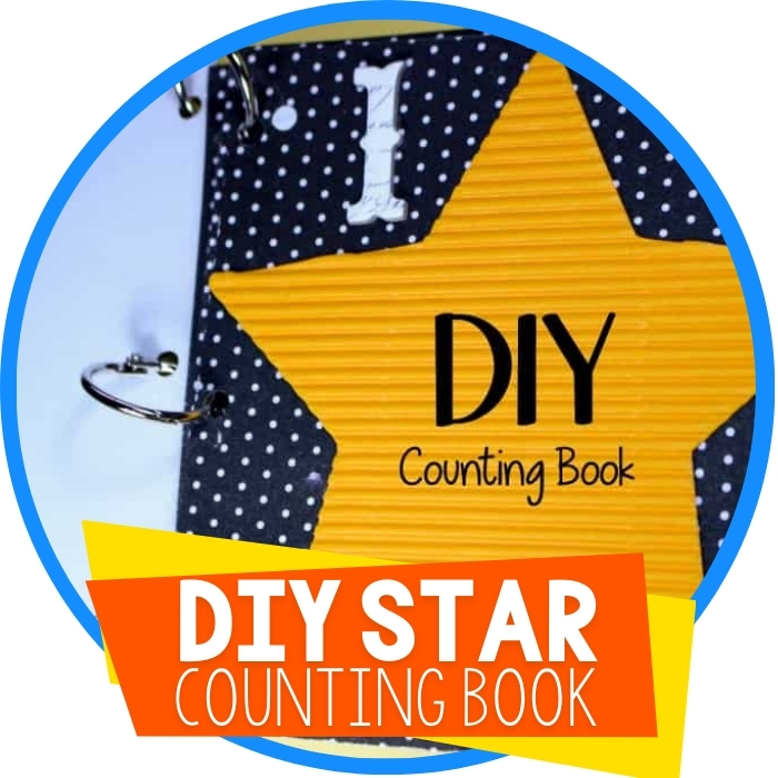 DIY Counting Book for Counting to 3 with Preschoolers