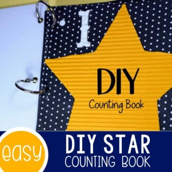 DIY Counting Book for Counting to 3 with Preschoolers Featured Square Image