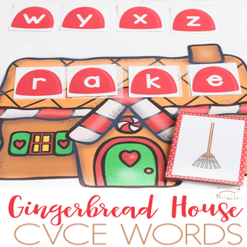 This gingerbread word work free printable for CVCE words will make a fabulous addition to your phonics program this winter. It's even fun to use once Christmas has passed.