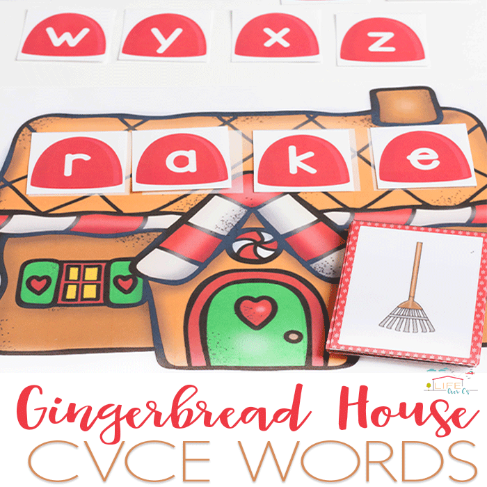 gingerbread house CVCE Words