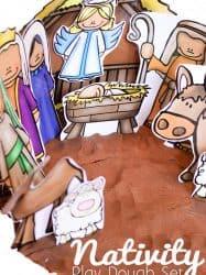 FREE Nativity Play Dough Printable for Christmas