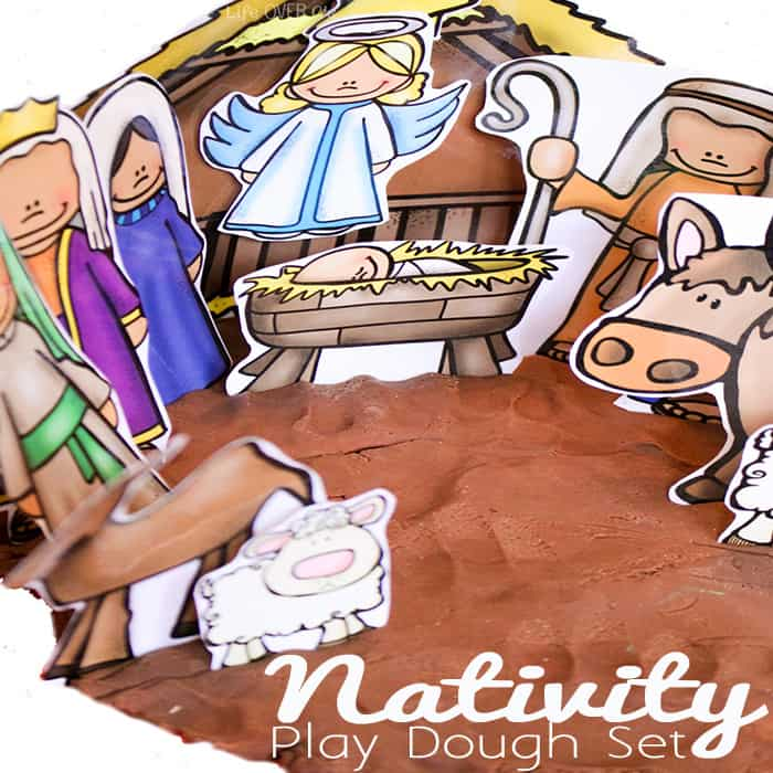This Nativity Play Dough Set is a great way to help small children learn the true Christmas story.