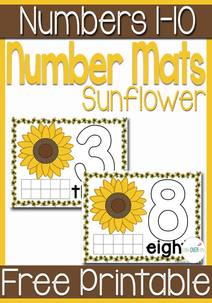 Free Sunflower Play Dough Mats For Numbers 1 10 Free