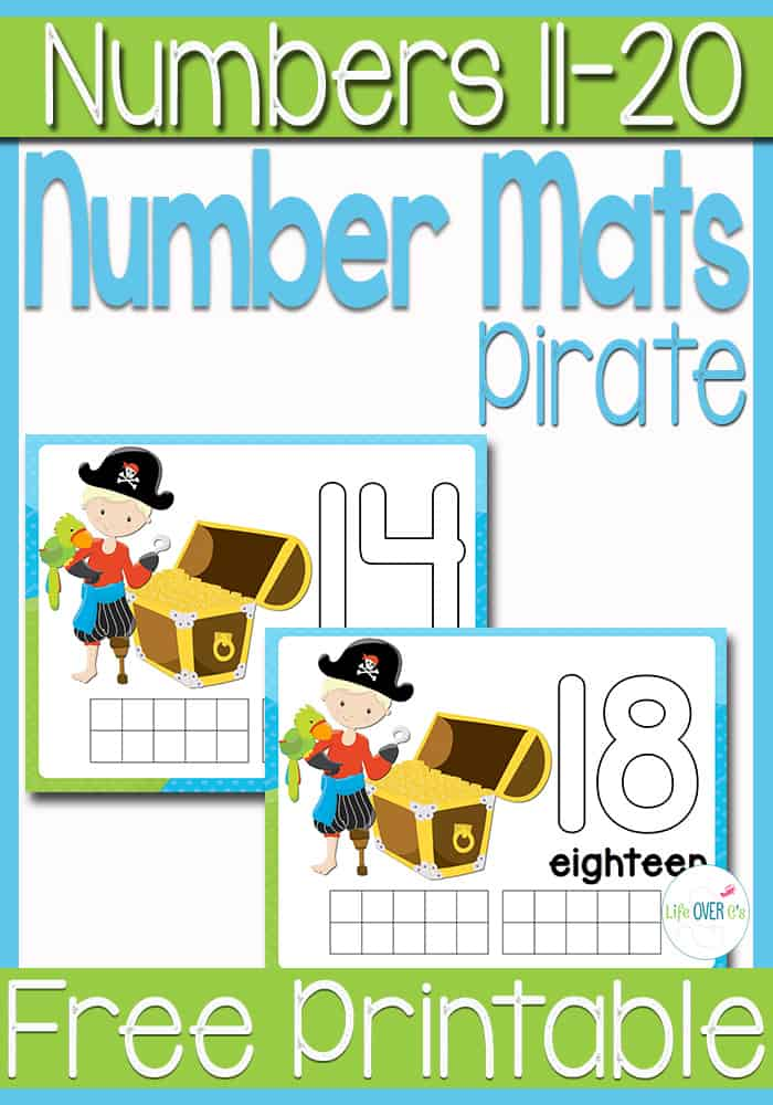 These free pirate play dough mats for numbers 11-20 are amazing! They combine numbers, words, counting and ten-frames! So versatile.