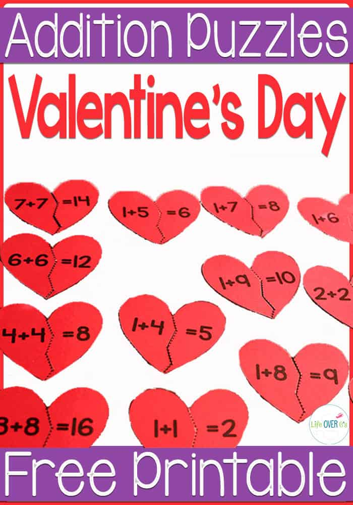 Practice addition facts with these broken heart puzzles for Valentine's Day. Match the addition facts to the sums.