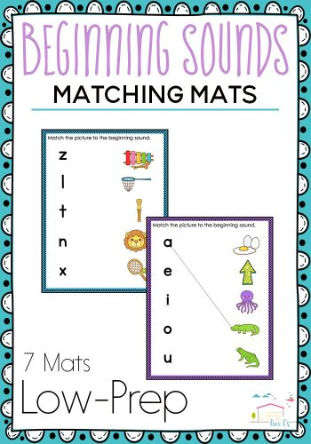 phonics matching printables