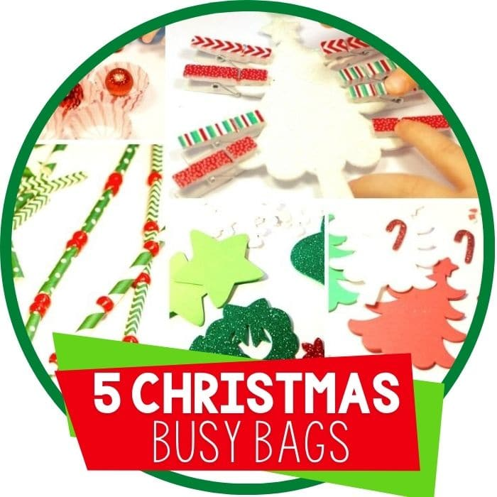 5 Christmas Busy Bags for Learning