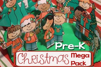 This Christmas learning printable pack for preschoolers is sure to catch the attention of your little ones this Christmas! 15+ learning activities with bright, bold pictures!
