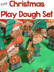 Free Christmas Play Dough Printable Set