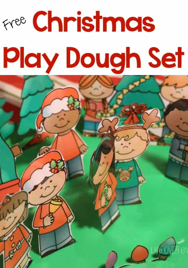 Free Christmas Play Dough Printable Set
