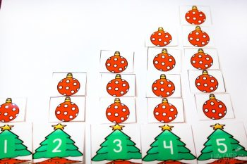 Practice counting to 10 with these fun Christmas trees and the 15+ activities in the Christmas preschool pack! Sorting, counting, patterns, and much more!