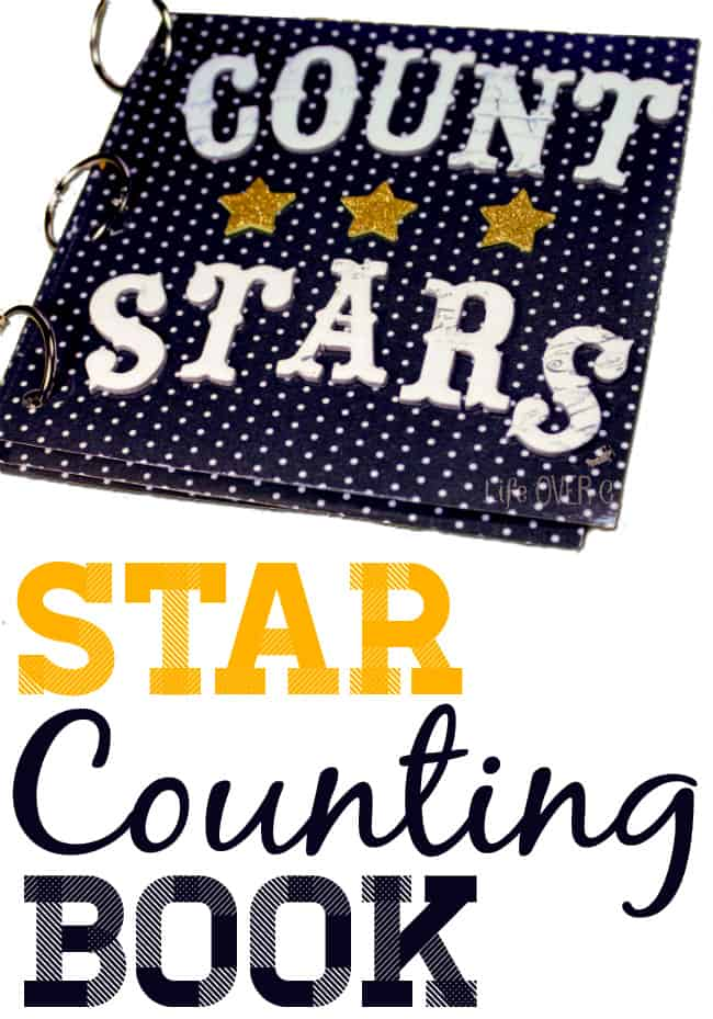 Create your own counting book! This fun star counting book is a great project for preschoolers who are learning how to count!