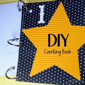 Our big goals for preschool this year are to learn to count to 5, colors, shapes and how to say her name. This fun DIY counting book for counting to 3 with preschoolers is getting us started on our goals in a super fun way!