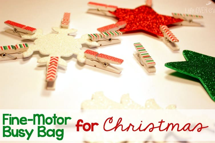 Build fine-motor skills with this fun and festive busy bag for your toddler or preschooler.