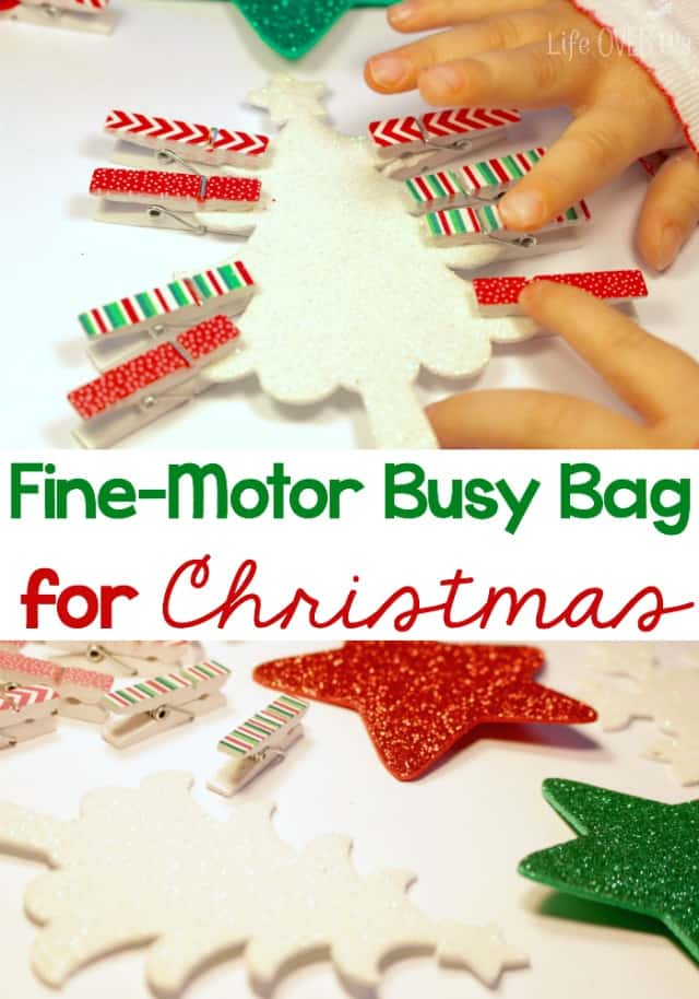 Christmas Fine-Motor Busy Bag
