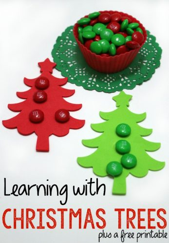 Even school can be inspired by the crafts and beautiful things of the Christmas season. Learning with Christmas trees is a great way to bring the joy of the season into your school time.