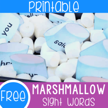 Free printable sight words reading and writing activity for preschool and kindergarten. Practice sight words with this fun hot cocoa and marshmallow themed sight words set.
