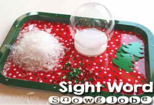 Build a sight word snow globe to add to your word work time this winter!