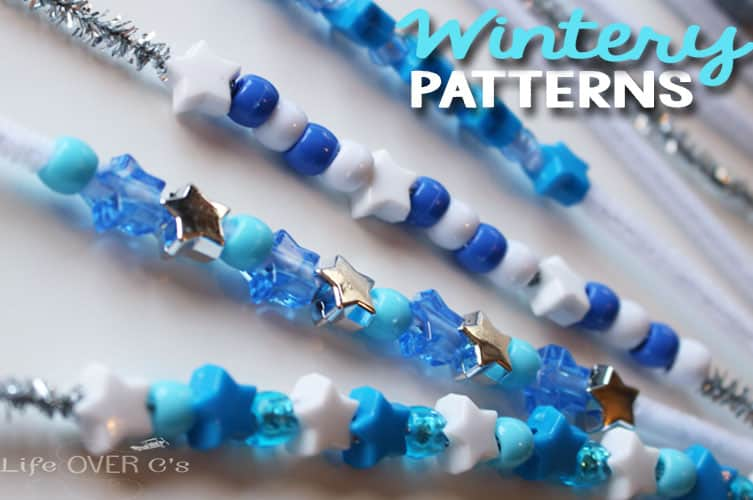 Winter pattern building printable to build complex patterns.