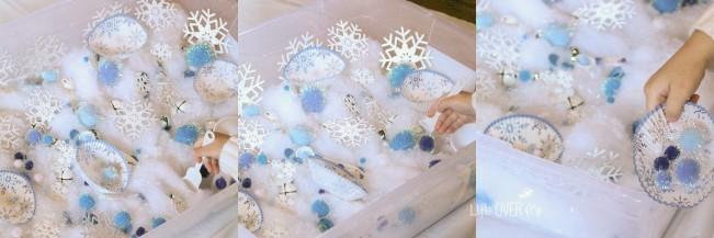 snow sensory play